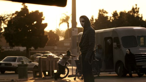 """Purgers and Hunters, from """"The Purge: Anarchy"""" (2014)"""