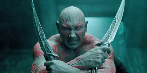 Drax the Destroyer, played by David Bautista