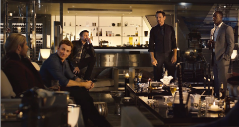 The Avengers partying at Stark Tower