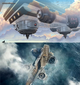 Helicarrier in Comics vs Movies