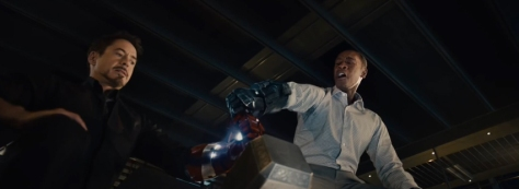 Tony can't lift Mjolnir